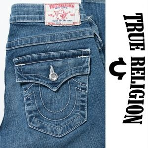 True Religion Becky Boot Cut Crystal Jeans 27